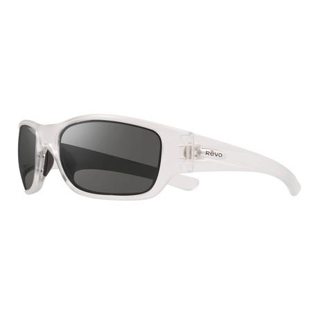 Unisex Heading Polarized Sunglasses // Crystal + Graphite
