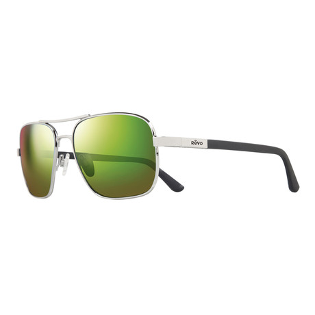 Unisex Freeman Polarized Sunglasses // Chrome + Green Water