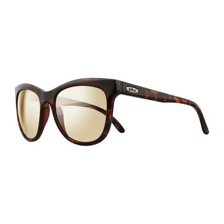 Unisex Leigh Polarized Sunglasses // Tortoise + Champagne