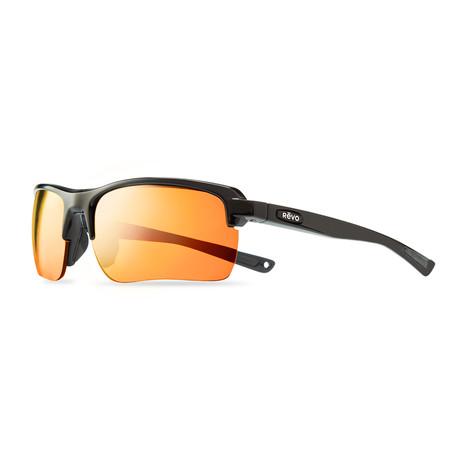 Unisex Crux C Polarized Sunglasses // Matte Black + Solar Orange