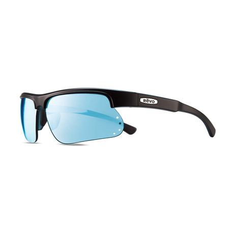 Unisex Cusp S Polarized Sunglasses // Black + Blue + Blue Water