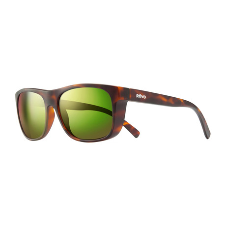 Unisex Lukee Polarized Sunglasses // Dark Tortoise + Green Water