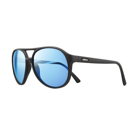 Marx Polarized Sunglasses // Black // Blue Water Lens