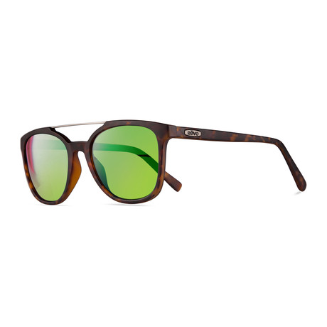 Unisex Clayton Polarized Sunglasses // Matte Tortoise + Green Water