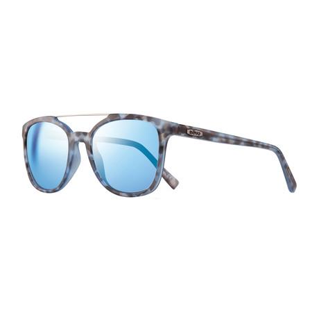 Unisex Clayton Polarized Sunglasses // Blue Tortoise + Blue Water