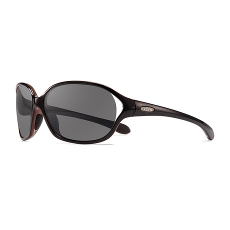 Skylar Polarized Sunglasses // Black Frame + Graphite Lens