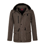 Hooded Winter Coat // Mink (L)