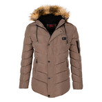 Fur Hooded Winter Coat // Mink (XL)