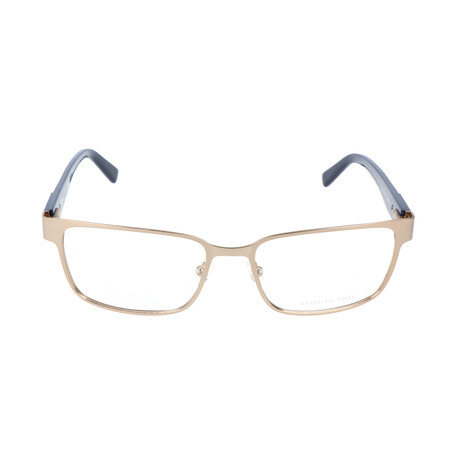 Pierrer Cardin Men's Optical // 6816 // Matte Light Gold + Havana Blue