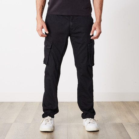Slim Fit Cargo Pant // Black (30WX30L)
