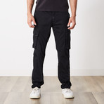 Slim Fit Cargo Pant // Black (32WX30L)