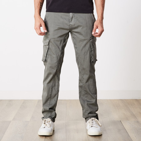 Slim Fit Cargo Pant // Grey (30WX30L)