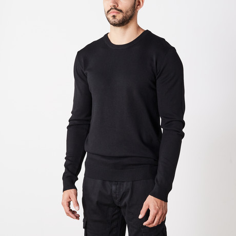 Slim Crew Neck Sweater // Black (S)