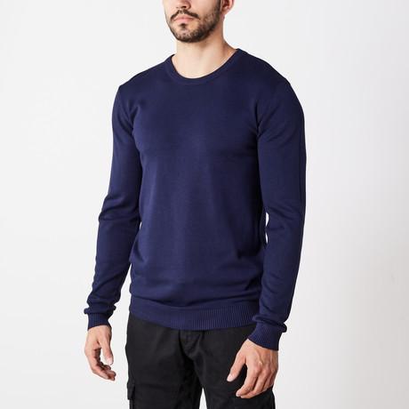 Slim Crew Neck Sweater // Navy (S)
