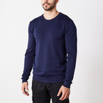 Slim Crew Neck Sweater // Navy (3XL)