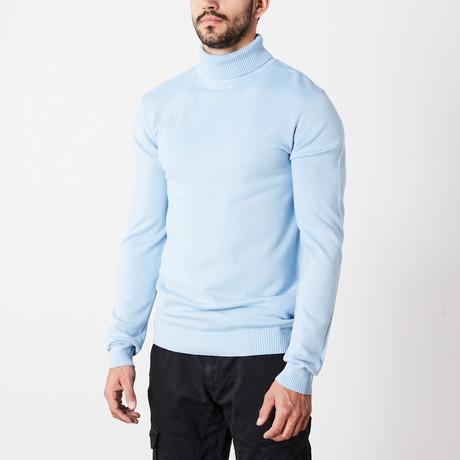 Classic Turtle Neck Sweater // Powder Blue (S)