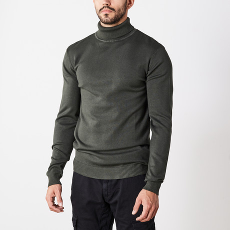 Classic Turtle Neck Sweater // Olive (S)