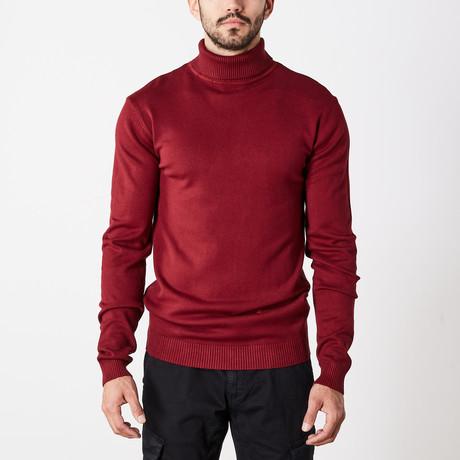 Classic Turtle Neck Sweater // Oxblood (S)