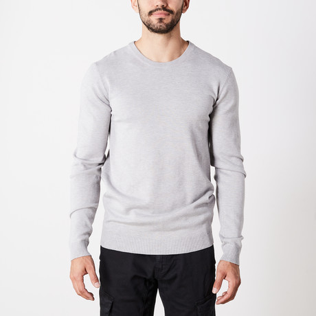 Slim Crew Neck Sweater // Heather Gray (S)