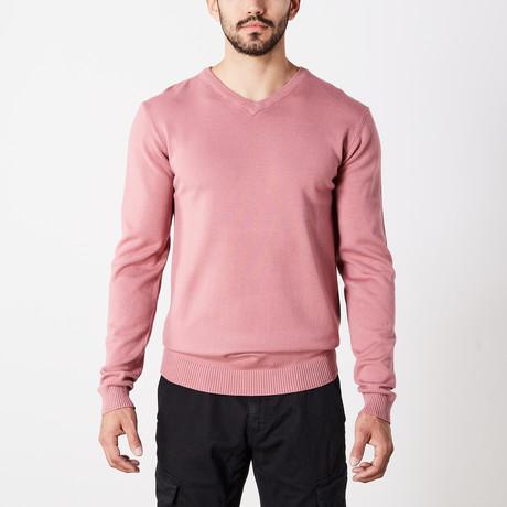 Slim V-Neck Sweater // Dusty Mauve (S)