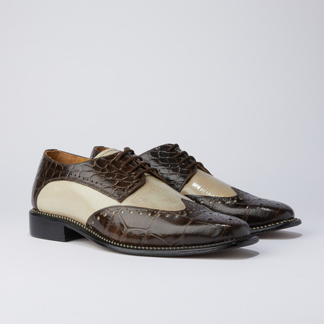 Boyka Dress Shoes // Brown + Beige (US: 6.5)