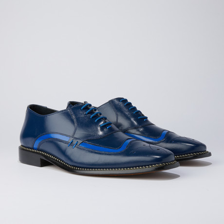 Youth Dress Shoes // Navy + Royal (US: 6.5)