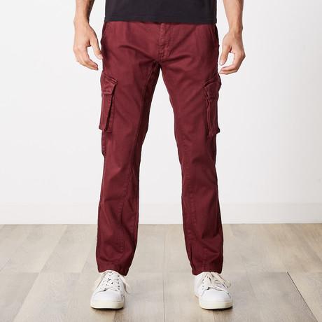 Slim Fit Cargo Pant // Maroon (30WX30L)