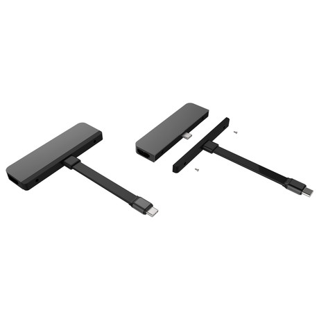 Hyperdrive 6-in-1 USB-C Hub // iPadPro 2018 (Space Gray)