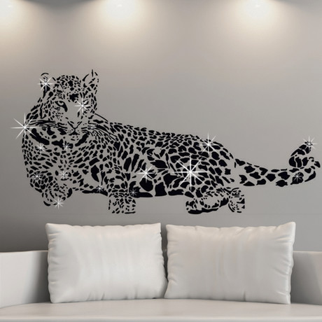 Leopard with Swarovski Crystals // Wall Sticker