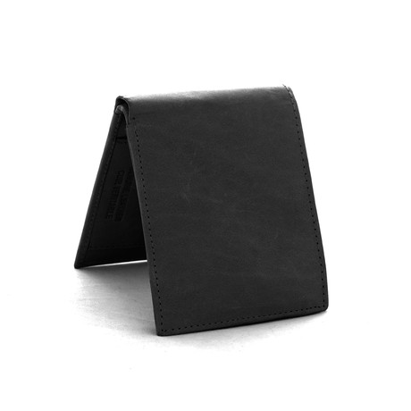 Leather RFID Wallet // Black