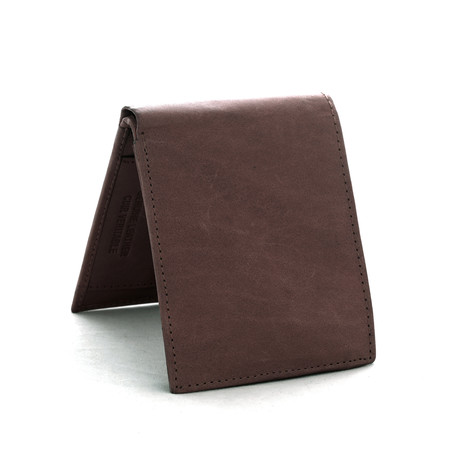 Leather RFID Wallet // Brown