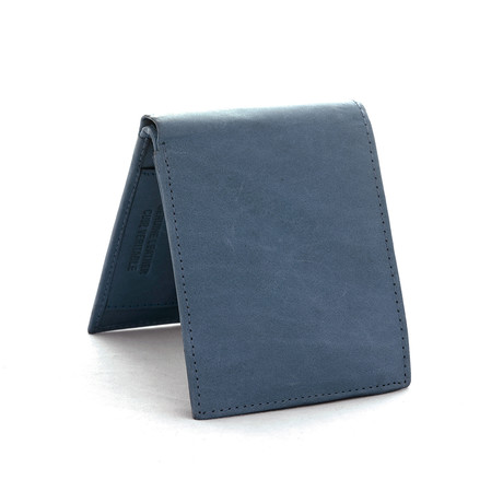 Leather RFID Wallet // Blue Cobalt