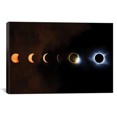 "Phases Of A Total Eclipse // Jonathan Ross Photography (18""W x 26""H x 0.75""D)"