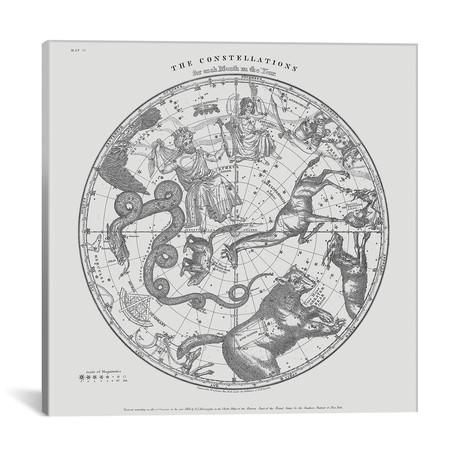 "The Constellations On White // Florent Bodart (18""W x 18""H x 0.75""D)"
