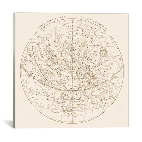 """Visible Heavens On Gold // Florent Bodart (18""""W x 18""""H x 0.75""""D)"""