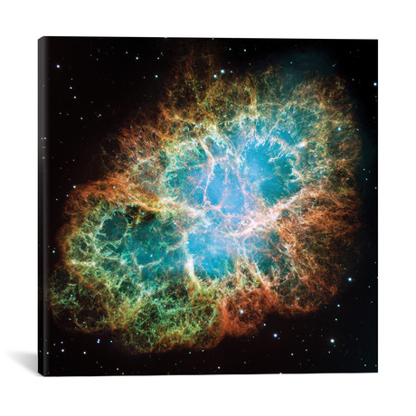 """Extreme Detail, Crab Nebula, Messier 1 // NASA (18""""W x 18""""H x 0.75""""D)"""