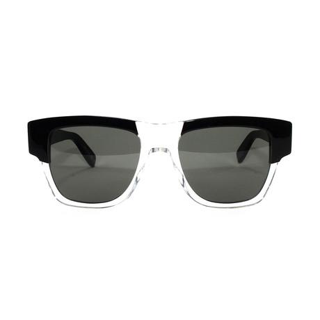 Yves Saint Laurent Unisex Sunglasses // SL 142 // Black + Crystal