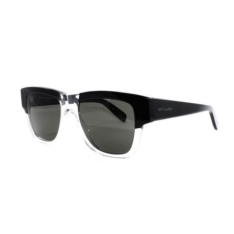 Yves Saint Laurent // Men's 142 Sunglasses // Black + Crystal