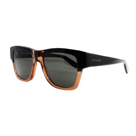 Yves Saint Laurent // Men's 142 Sunglasses // Black + Brown