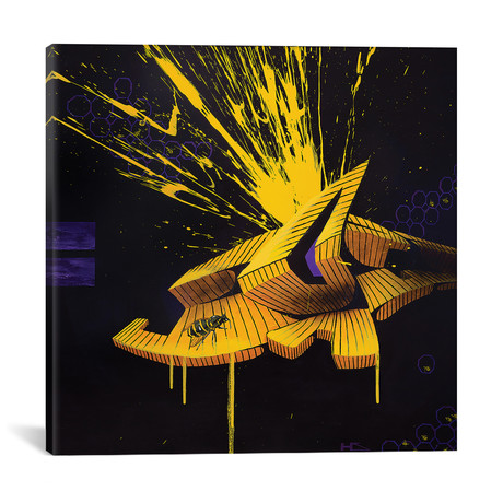 "Honey // Harry Salmi (18""W x 18""H x 0.75""D)"