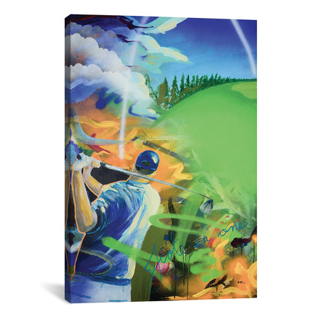 "Hole In One // Harry Salmi (18""W x 26""H x 0.75""D)"
