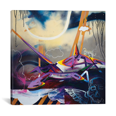 "Last Setting // Harry Salmi (18""W x 18""H x 0.75""D)"
