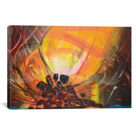 "Bonfire // Harry Salmi (26""W x 18""H x 0.75""D)"