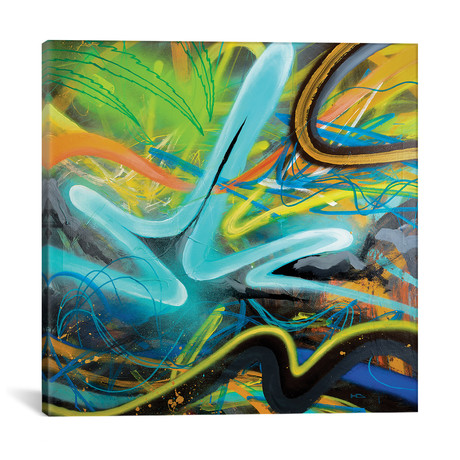"Tropical Zone // Harry Salmi (18""W x 18""H x 0.75""D)"
