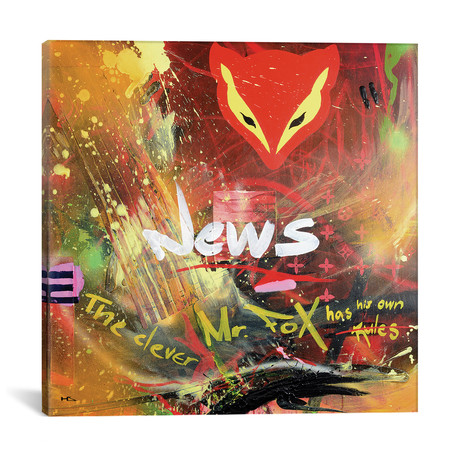 "Supernova // Harry Salmi (18""W x 18""H x 0.75""D)"