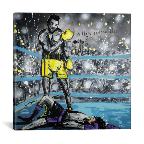 "What A Fight // Harry Salmi (18""W x 18""H x 0.75""D)"