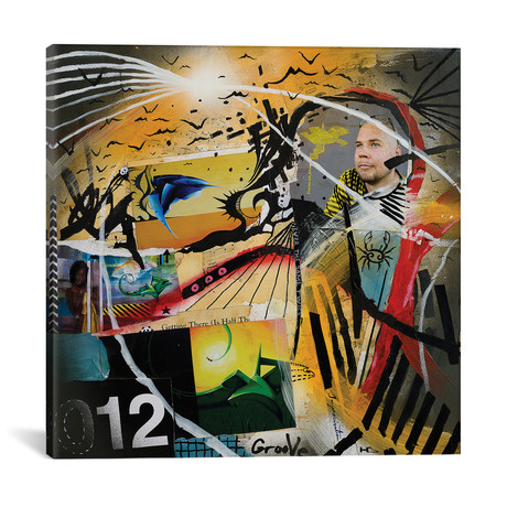"Lived Stories // Harry Salmi (18""W x 18""H x 0.75""D)"
