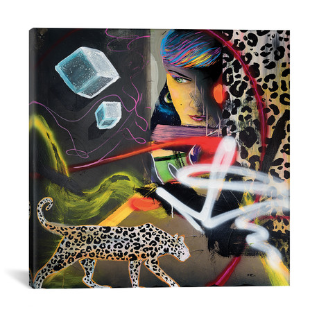 "Wild Hearts // Harry Salmi (18""W x 18""H x 0.75""D)"