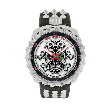 Bomberg Bolt-68 Black Nails Badass Automatic // BS45ASS.039-4.3 // Store Display