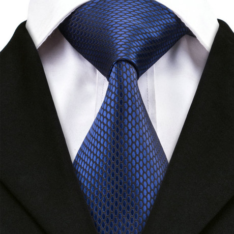 Cagliari Silk Dress Tie // Blue